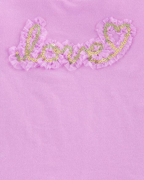 Love Tulle-Sleeve Top