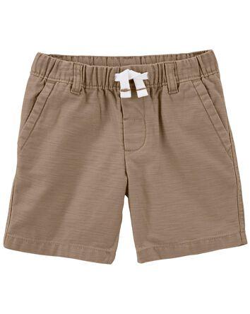 Pull-On Khaki Shorts