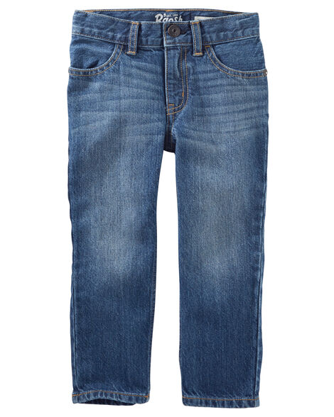 Jeans droit - délavage ancre