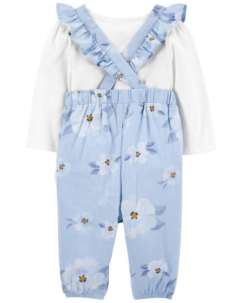 2-Piece Tee & Floral Jumpsuit Set, , hi-res