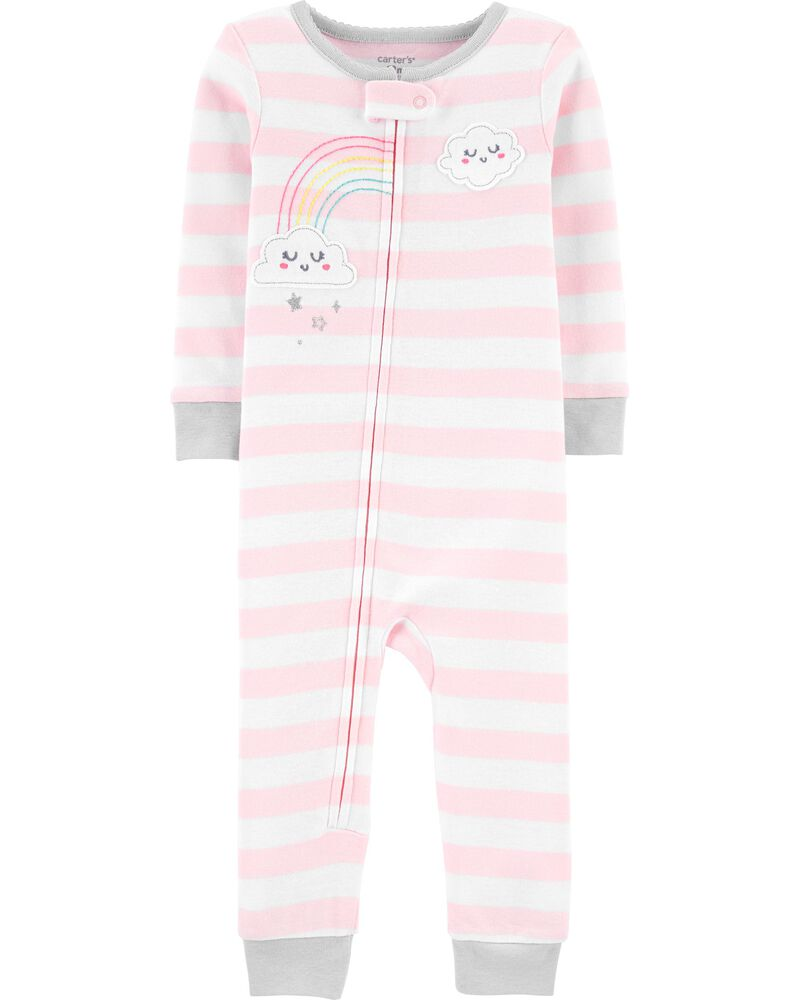 1-Piece Cloud Snug Fit Cotton Footless PJs, , hi-res