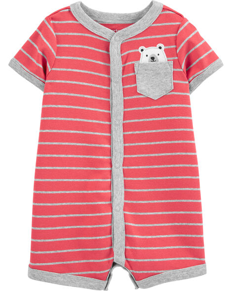 Striped Bear Romper