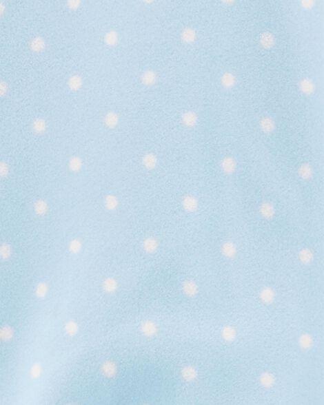 Pyjama 1 pièce à pieds en molleton licorne