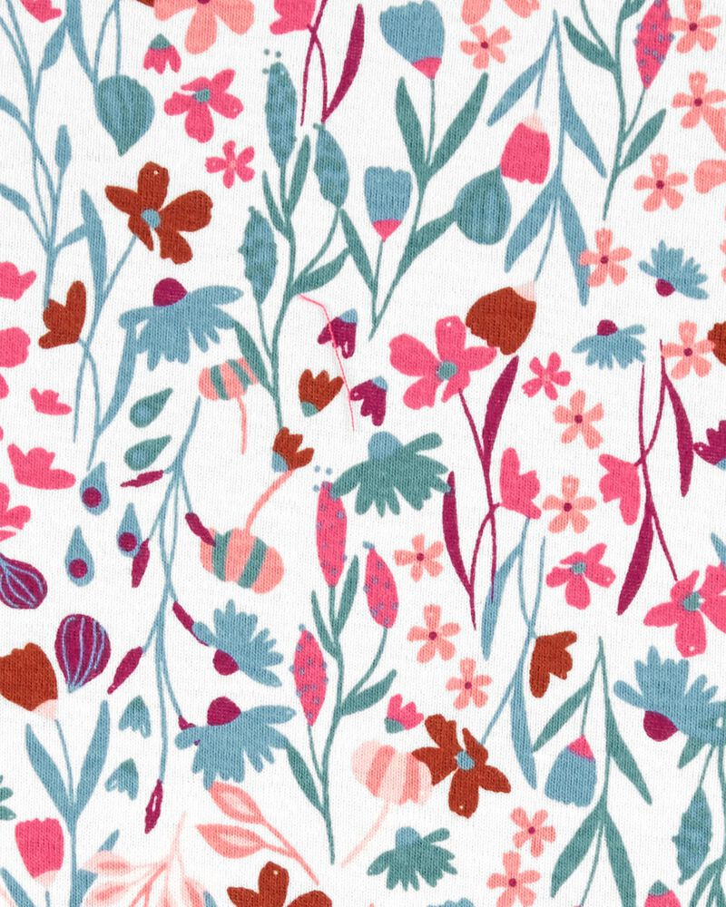 3-Piece Floral Tee & Jumper Set, , hi-res