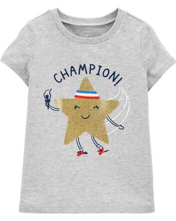 T-shirt en jersey scintillant olymp...