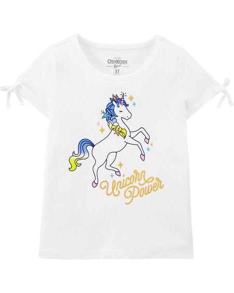 T-shirt à nœud aux manches Unicorn Power