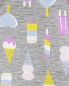 4-Piece Ice Cream 100% Snug Fit Cotton PJs, , hi-res