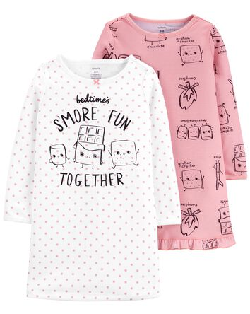 2-Pack S'Mores Nightgowns