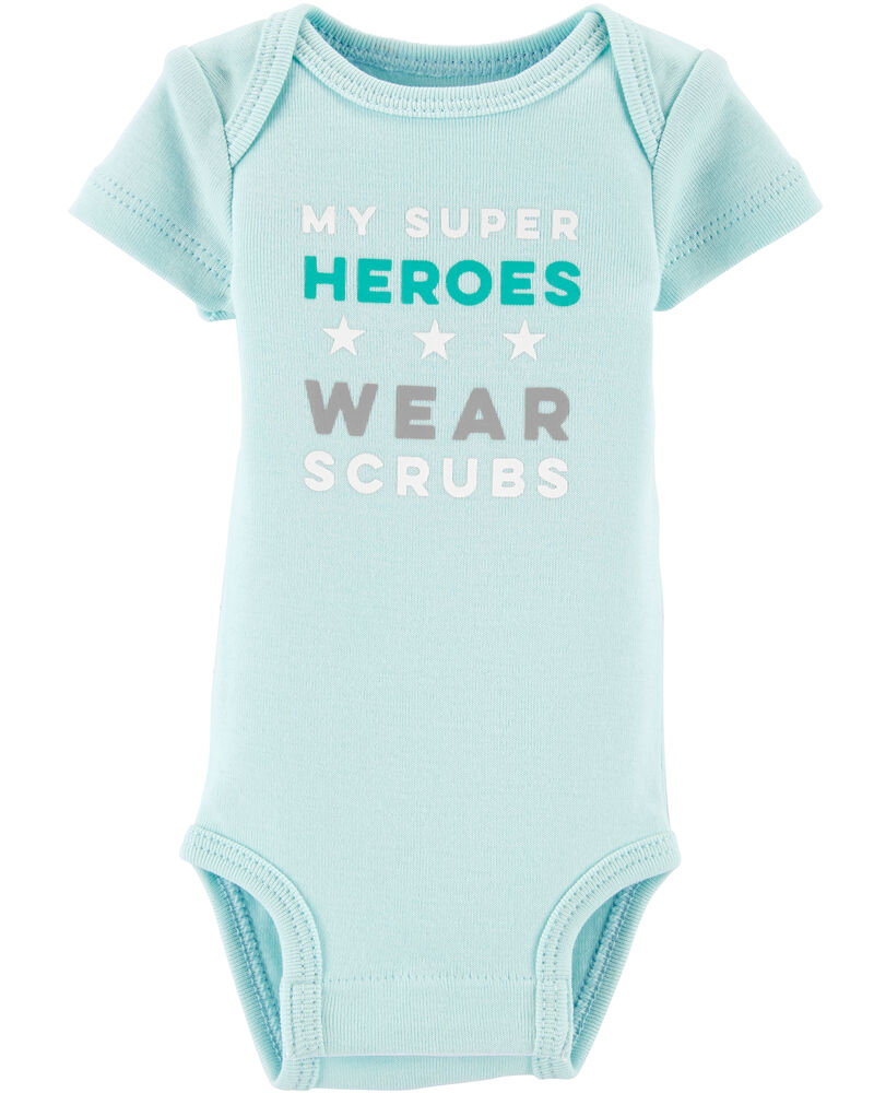 Preemie My Super Heroes Wear Scrubs Bodysuit, , hi-res