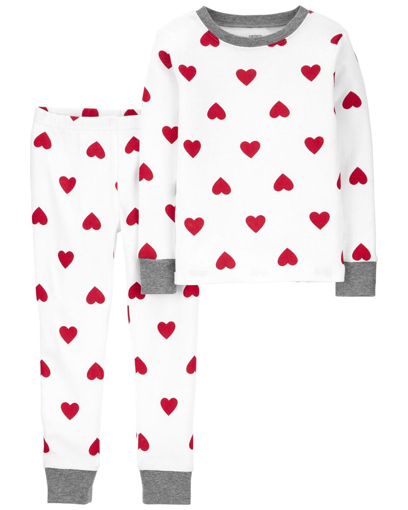2-Piece Valentine's Day 100% Snug Fit Cotton PJs, , hi-res