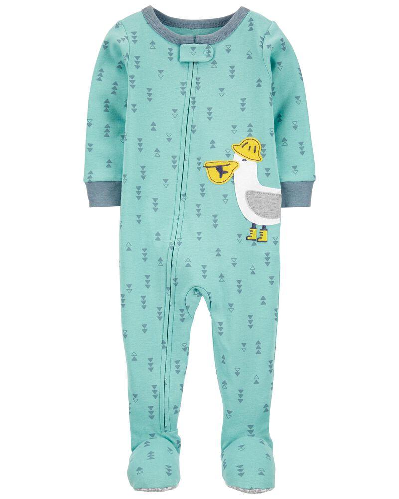 1-Piece Pelican 100% Snug Fit Cotton Footie PJs, , hi-res