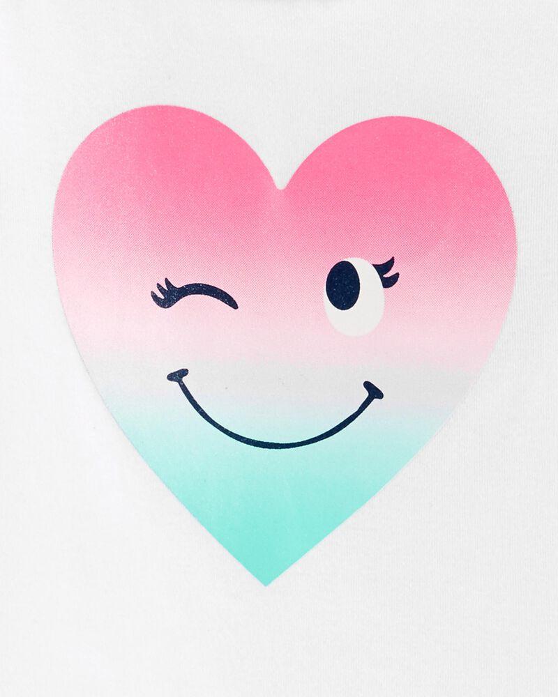 Pyjama 2 pièces en coton et molleton ajusté à motif de cœurs, , hi-res