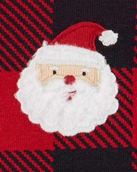 2-Piece Buffalo Check Top & Santa Pant Set