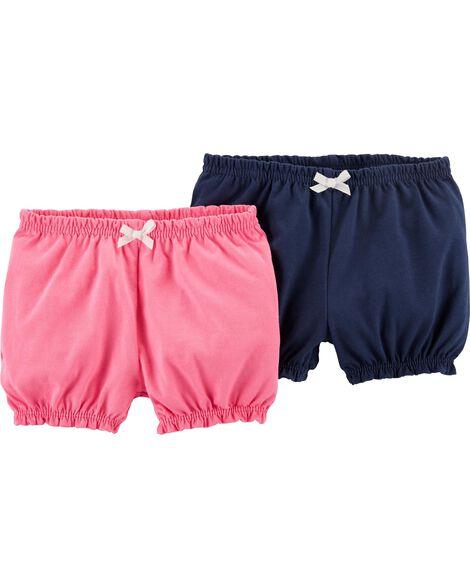 Emballage de 2 shorts bouffants à enfiler