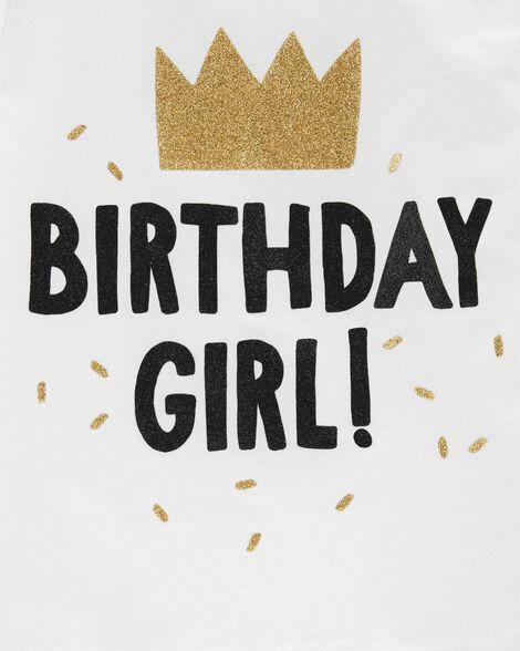 T-shirt en jersey scintillant Birthday Girl