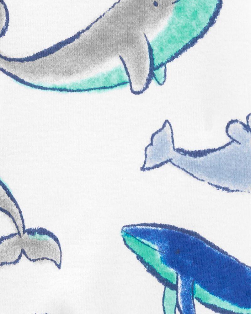 1-Piece Whale 100% Snug Fit Cotton Footie PJs, , hi-res