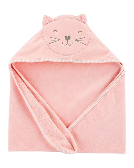 Serviette de bain à capuchon chat