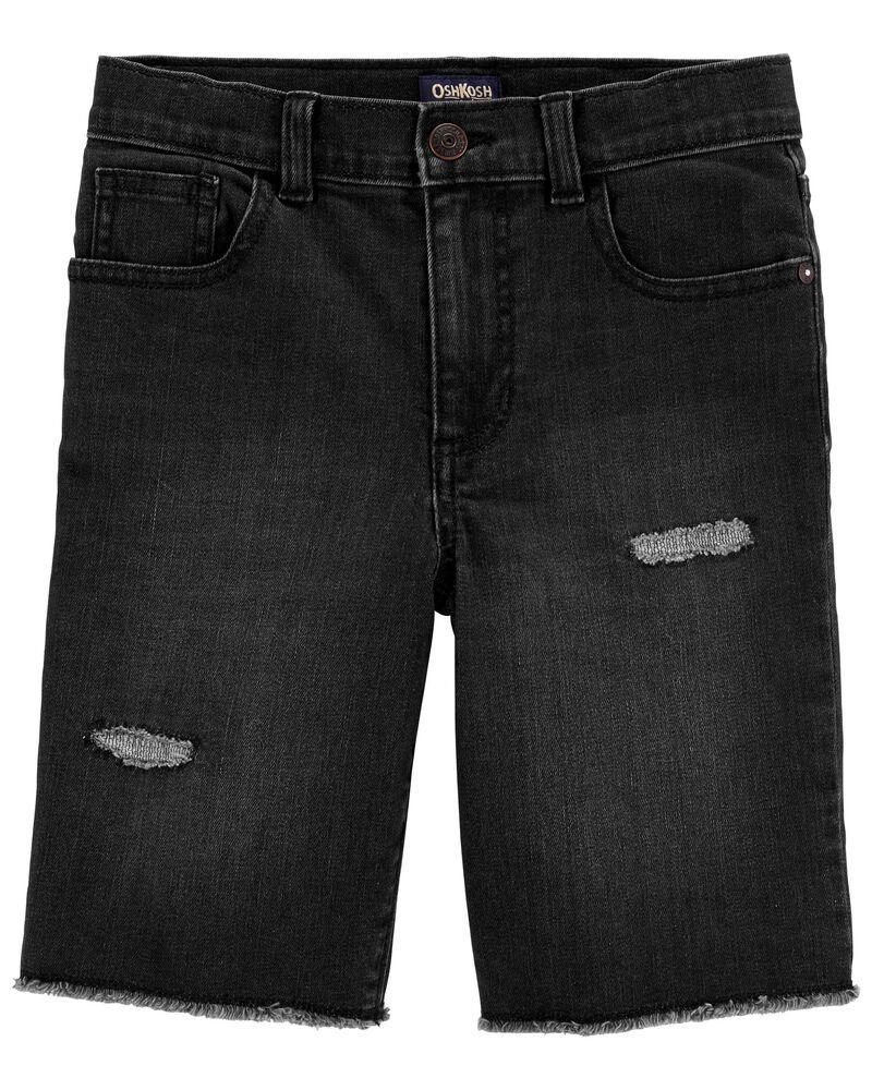 Knit Denim Shorts in Vintage Black Wash, , hi-res