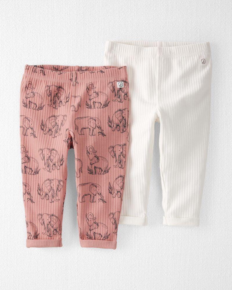 Emballage de 2 pantalons en coton côtelé certifié biologique, , hi-res