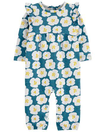 Floral Cotton Jumpsuit