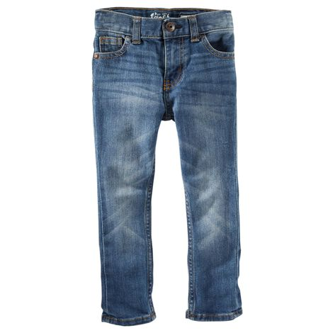 Jeans fuseau - délavé indigo vif