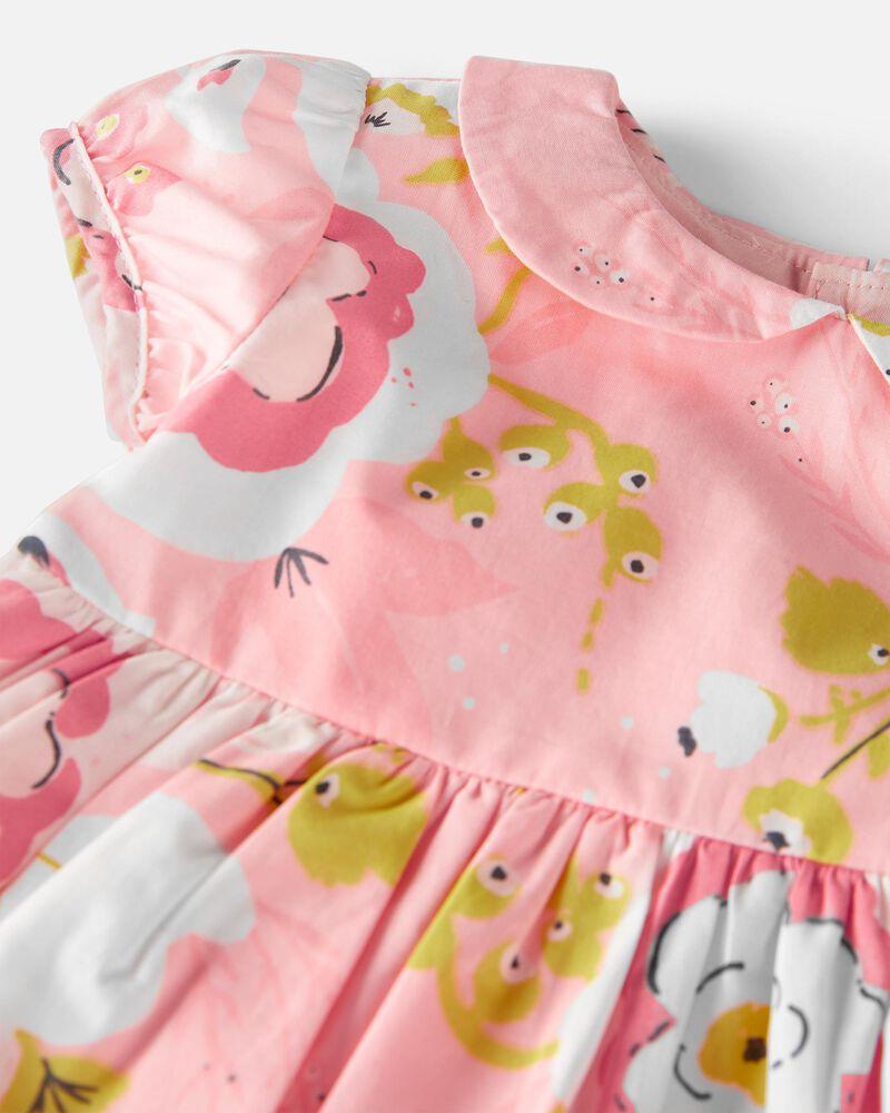 Organic Cotton Poplin Dress, , hi-res