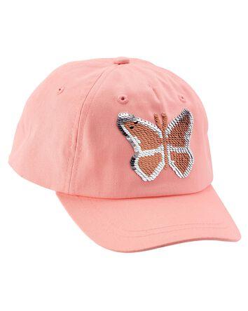 Butterfly Flip Sequin Baseball Cap