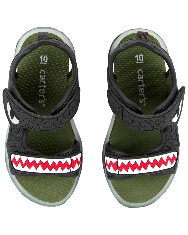 Sandales clignotantes à dinosaure, , hi-res