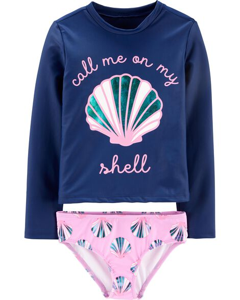 Shell 2-Piece UV Swim Shirt Set