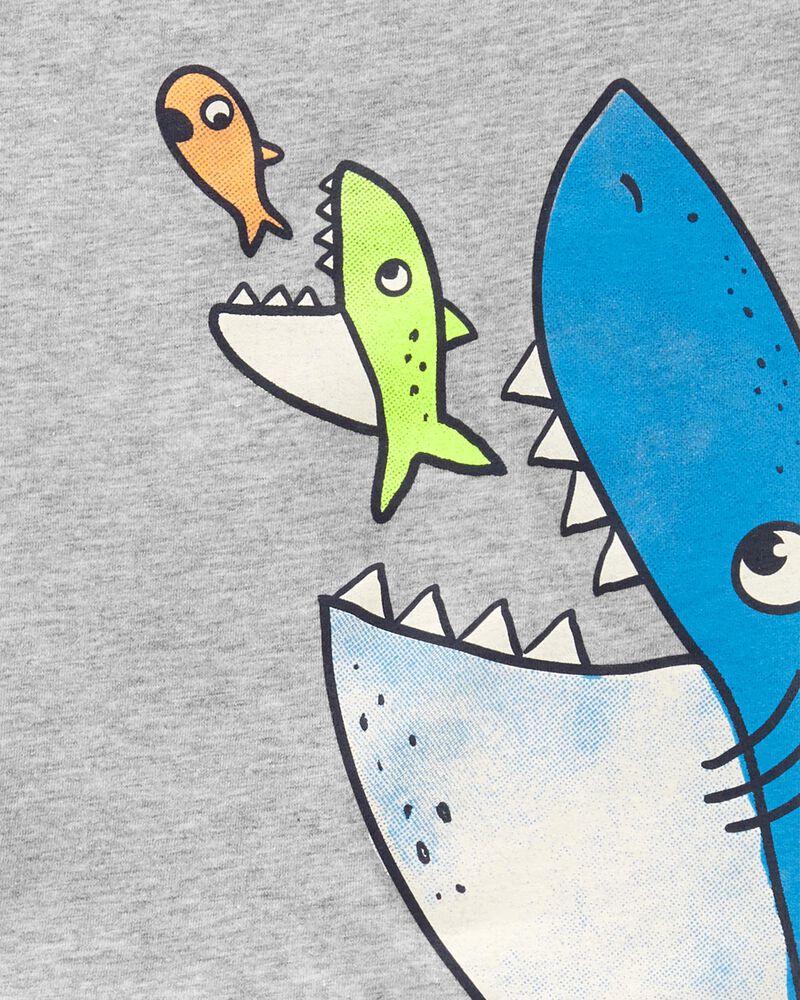 Ensemble 2 pièces débardeur à requin et short, , hi-res