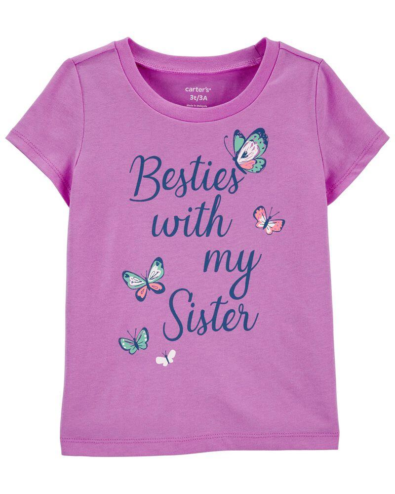 T-shirt en jersey à papillon Sister, , hi-res