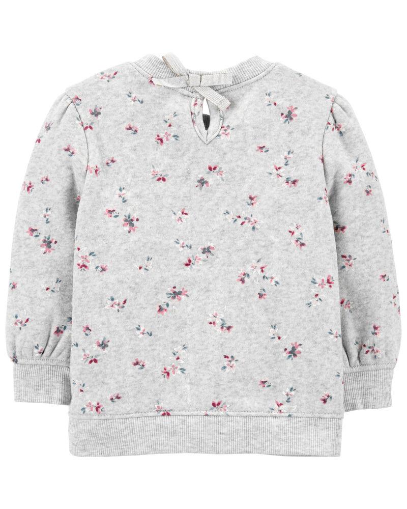 Floral Fleece Top, , hi-res