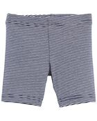 Striped Bike Shorts, , hi-res