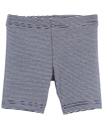 Striped Bike Shorts
