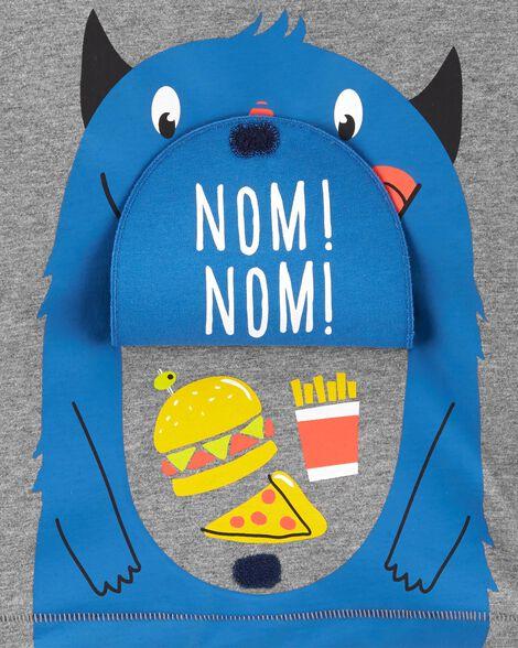 T-shirt avec monstre à rabat interactif