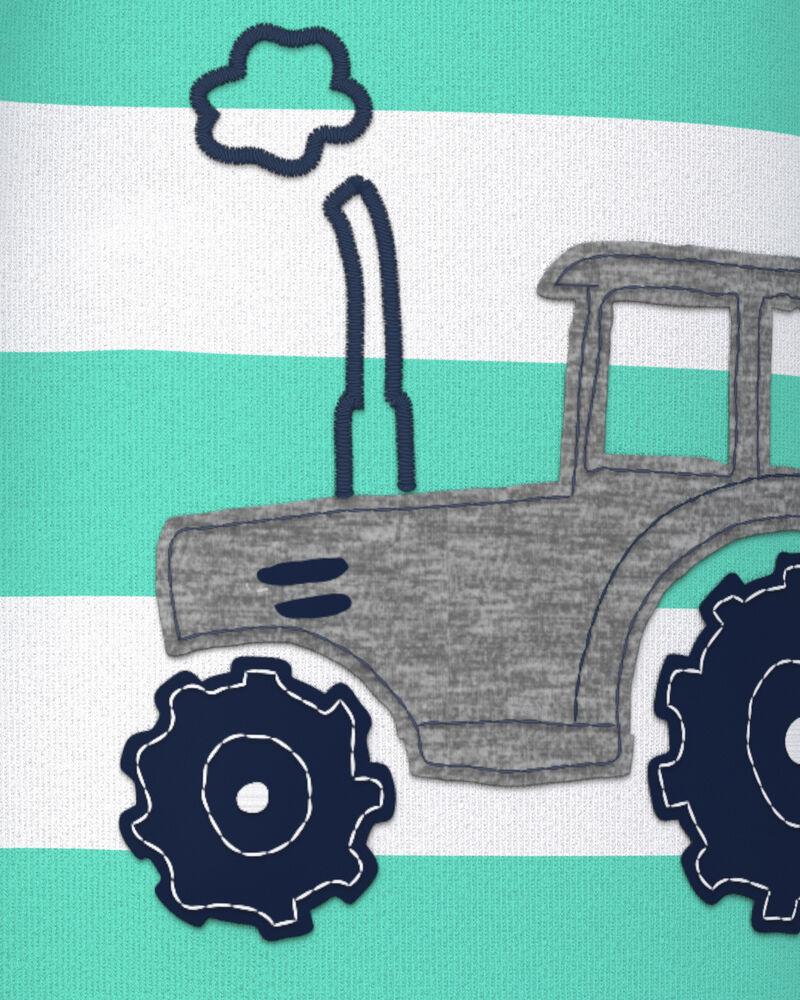1-Piece Tractor 100% Snug Fit Cotton Footie PJs, , hi-res