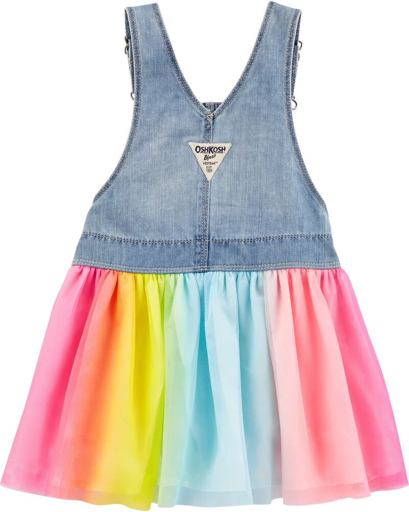 Robe chasuble en tulle arc-en-ciel, , hi-res