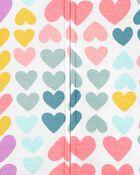 1-Piece Hearts 100% Snug Fit Cotton Romper PJs, , hi-res
