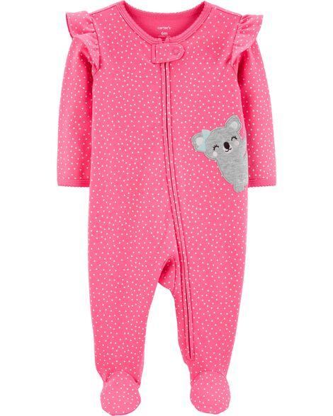 Heart Koala Zip-Up Cotton Sleep & Play