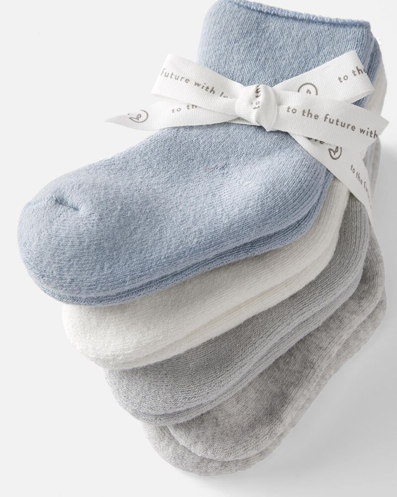 Emballage de 4 paires de chaussettes en coton bouclette certifié biologique, , hi-res