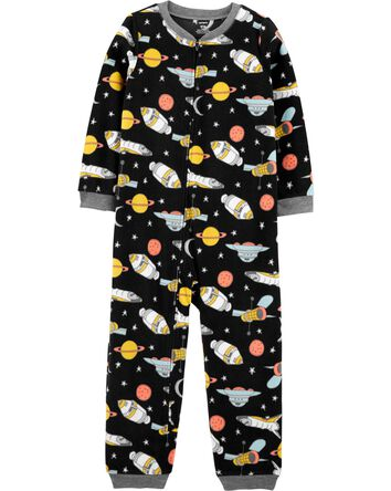 1-Piece Space Fleece Footless PJs