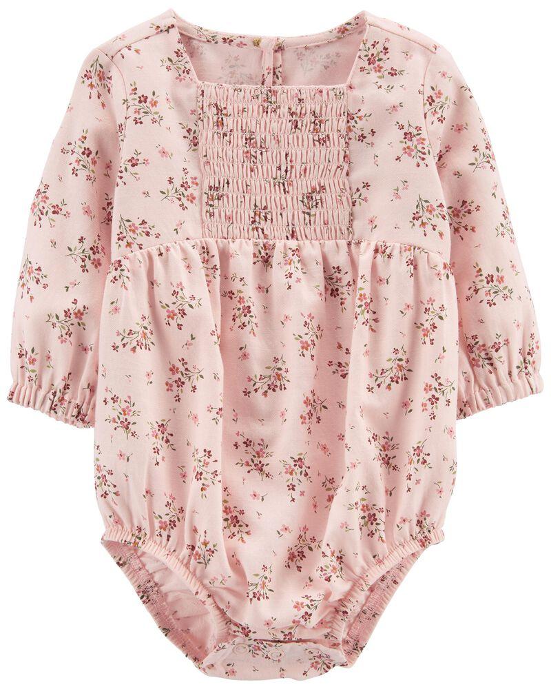 Floral Square-Neck Bodysuit, , hi-res