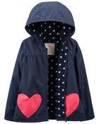 Heart Fleece-Lined Jacket, , hi-res