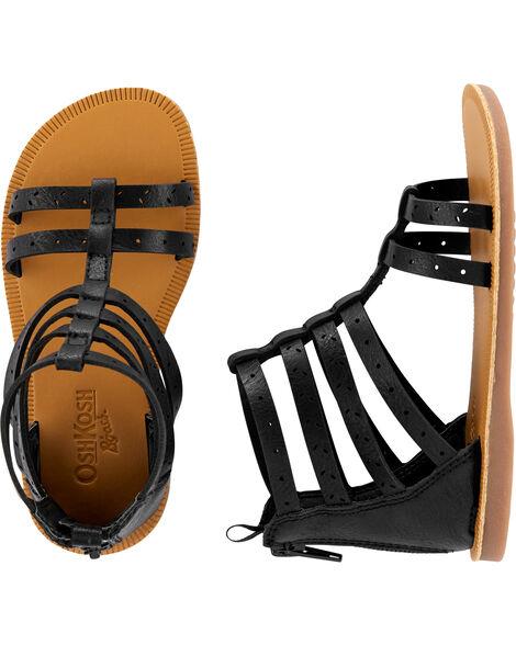 Sandales de style gladiateur Oshkosh noires
