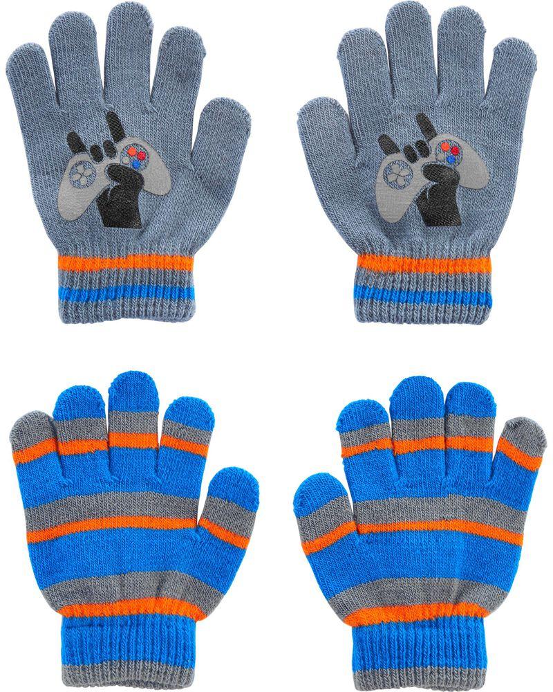 Emballage de 2 paires de gants amateur de jeux vidéo à paume agrippantes Kombi, , hi-res