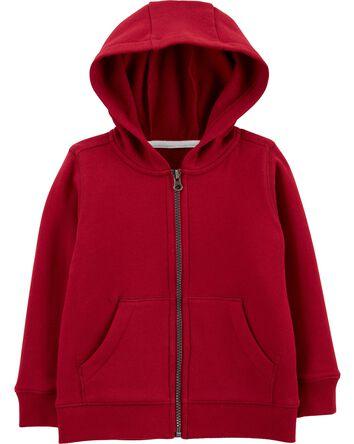 Zip-Up Fleece-Lined Hoodie