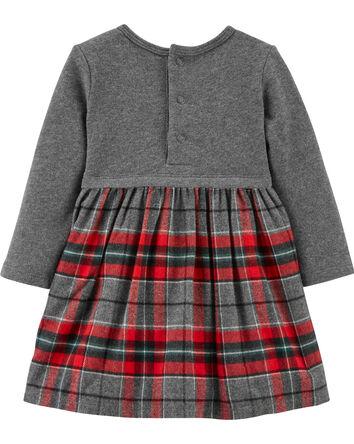Holiday Plaid Bow Dress