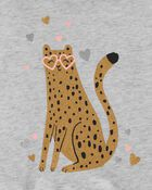 Leopard Hooded Jersey Tee, , hi-res
