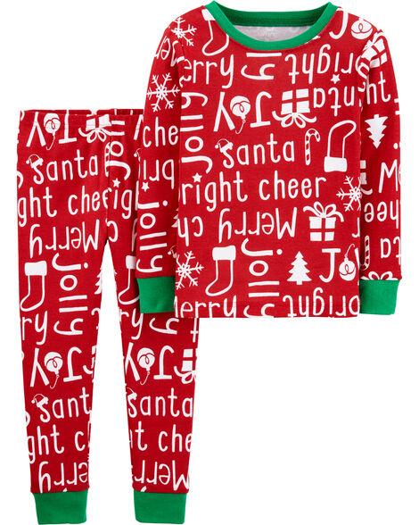Pyjama des Fêtes 2 pièces en coton ajusté