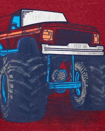 T-shirt en jersey chiné à camion mo...
